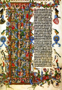 Initial Letter of Genesis, The Wenceslas Bible c. 1389